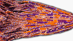 Round Custom Bracelets - (PU) - Purple, Orange, White
