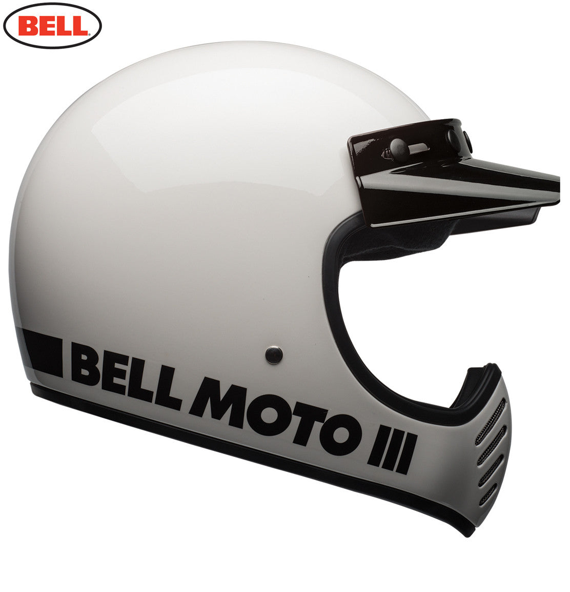 Bell Moto 3 - Classic White Motorcycle helmet