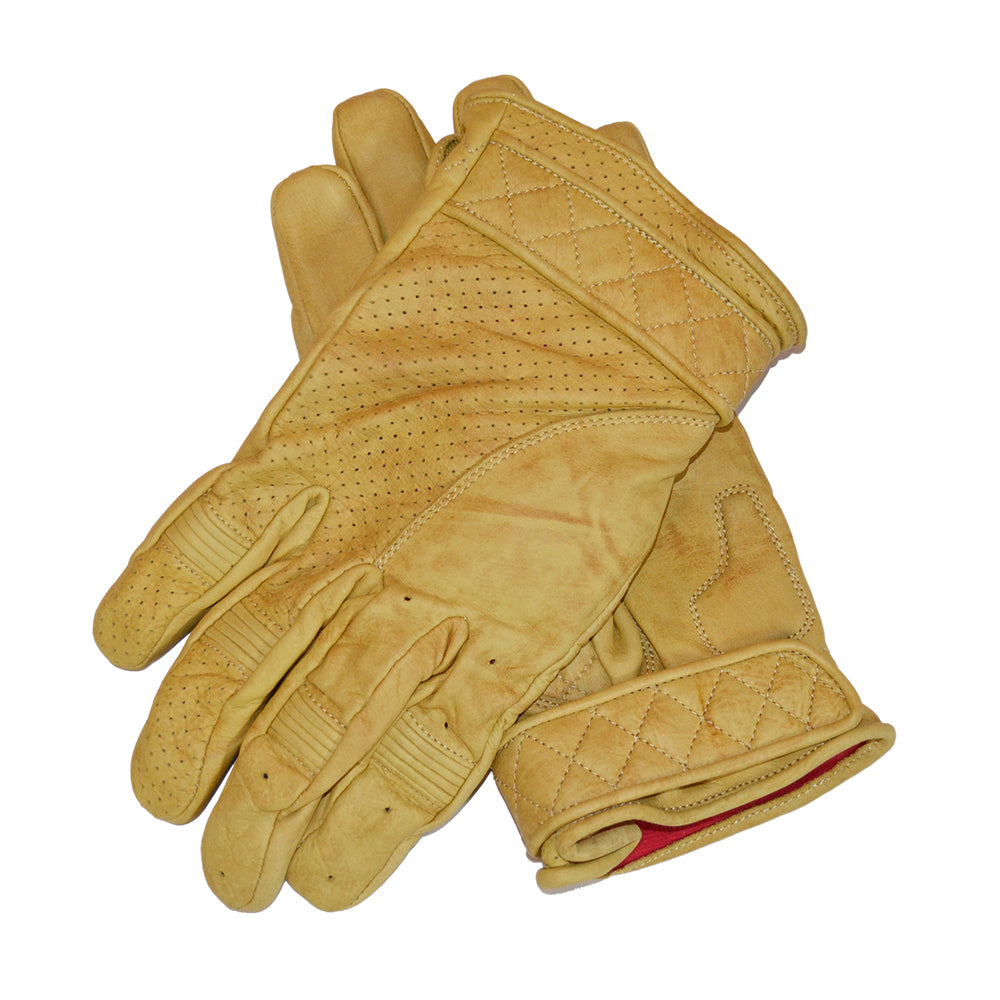 Goldtop Short Bobber Tan Motorcycle Gloves
