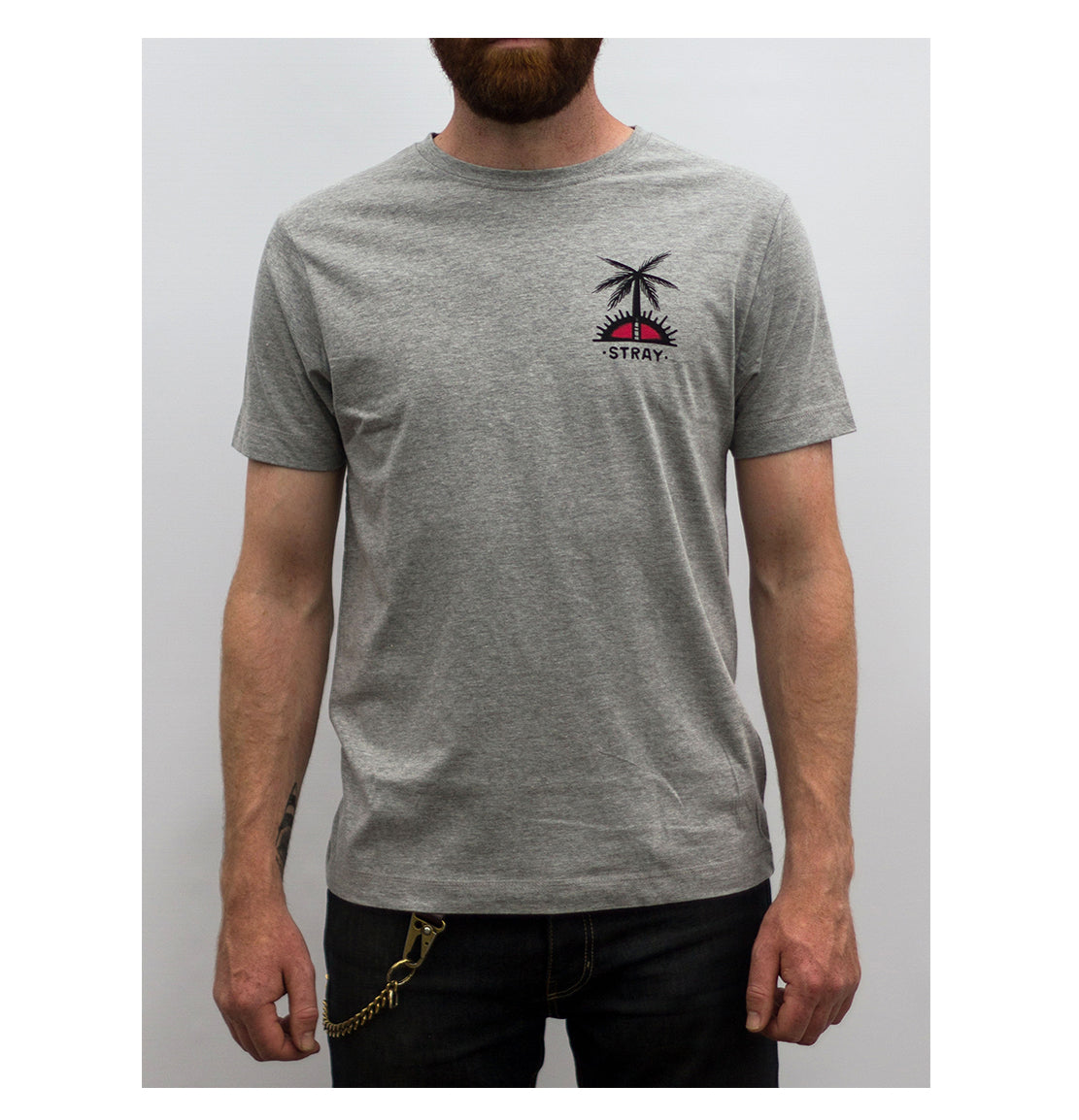 The stray club grey tee