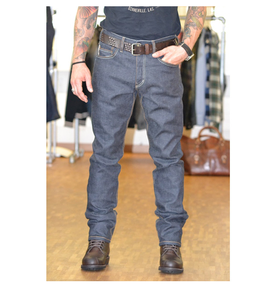 Rokker Iron Selvedge raw Motorcycle Jean