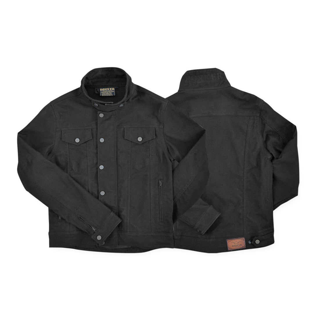 Rokker black motorcycle jacket