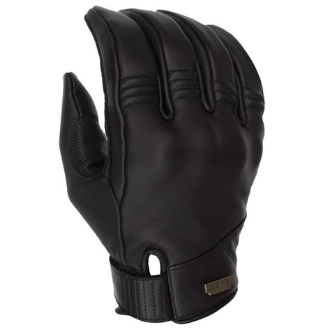 ESKA silky black leather motorcycle glove