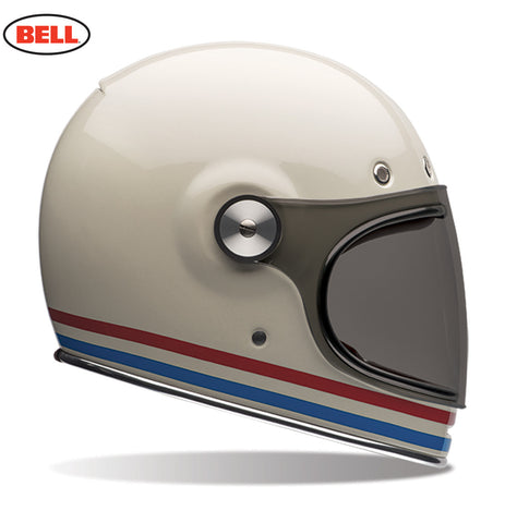 Bell Bullit Motorcycle Helmet Stripes Pearl White