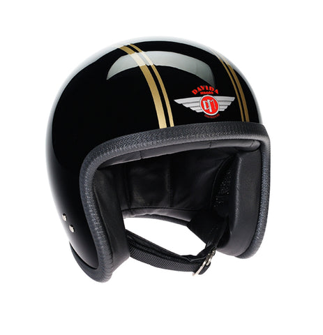 Davida Speedster V3 - Black Gold PS motorcycle helmet