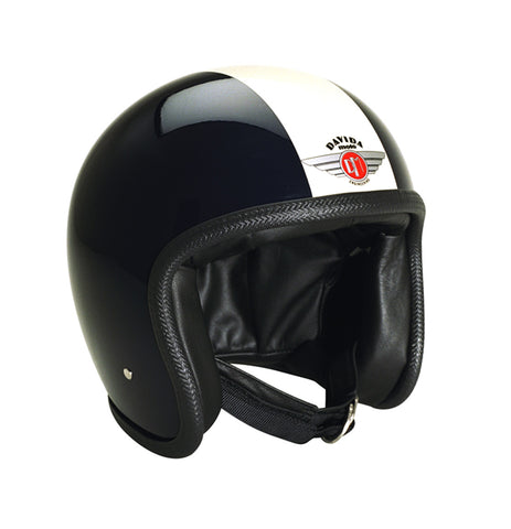 Davida Speedster V3 - Black White motorcycle helmet