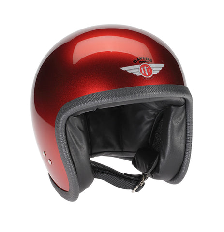 Davida Speedster V3 - cosmic candy red motorcycle helmet