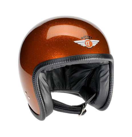 Davida Speedster V3 - Cosmic Flake Orange motorcycle helmet