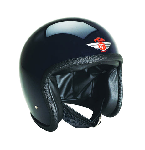 Davida Speedster V3 - Gloss Black motorcycle helmet