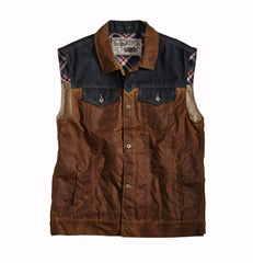 Rokker waxed cotton vest