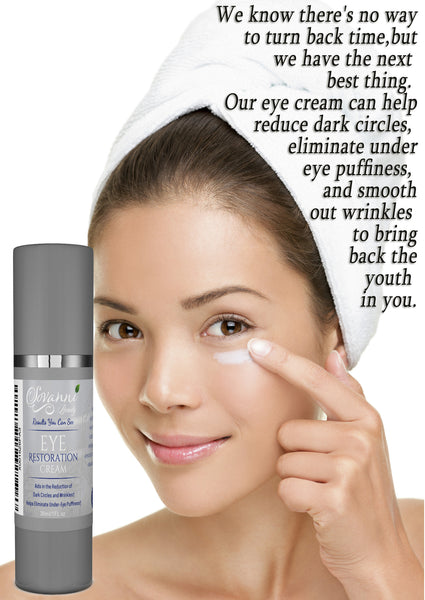 Sovanni Eye Cream for Puffiness, Dark Circles, Wrinkles & Bags 1oz Pump Bottle