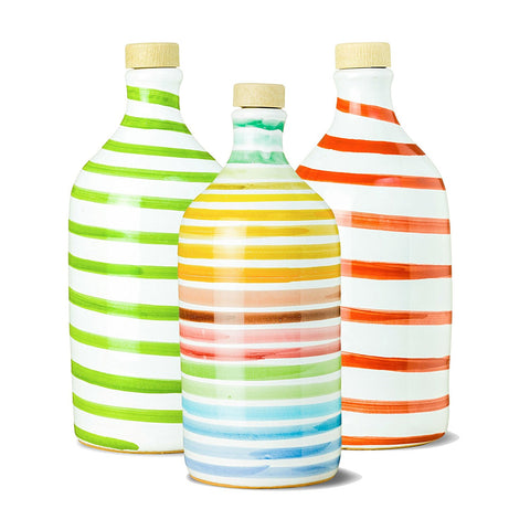 Frantoio Muraglia | Collectible Handmade Ceramic Bottle | GREEN, RED and RAINBOW | First Cold Pressed