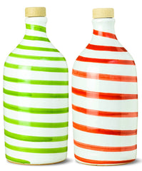 Frantoio Muraglia | Handmade Ceramic Bottle | CAPRI Collection | GREEN and RED | First Cold Pressed