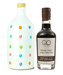 Olive Oil and Vinegar Unique Food Gift Set | POLKA DOT EVOO + QO Aged Balsamic Vinegar