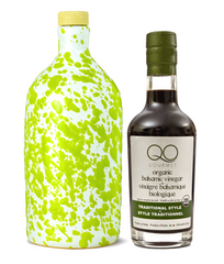 Olive Oil and Vinegar Gift Set | PUGLIA GREEN EVOO + ORGANIC Aged Thick Balsamic Vinegar