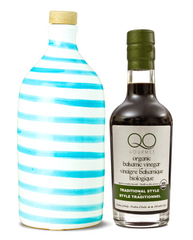 Olive Oil & Vinegar Gift Set | Muraglia CAPRI TURQUOISE + QO Thick Balsamic Vinegar