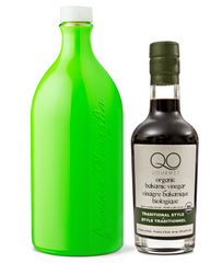 Olive Oil and Vinegar Gift Set | Muraglia GREEN EVOO + QO ORGANIC Aged Balsamic Vinegar