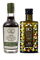 Muraglia First Cold Pressed ORGANIC evoo + QO Balsamic Vinegar ORGANIC Gift Set