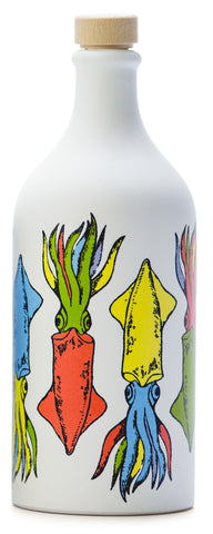 Frantoio Muraglia, EVOO, POP ART Collection, CUTTLEFISH, Handmade Ceramic Pottery