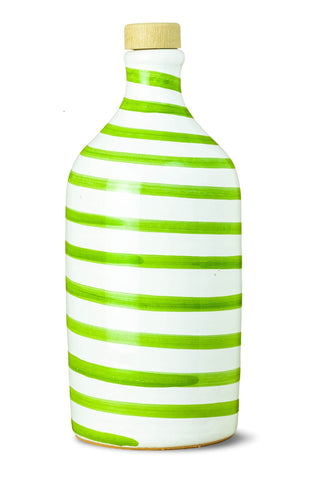 Frantoio Muraglia | Collectible Handmade Ceramic Bottle | CAPRI Collection | GREEN | First Cold Pressed