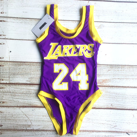 Lakers Basket Ball Swimwear - Leggings.gg