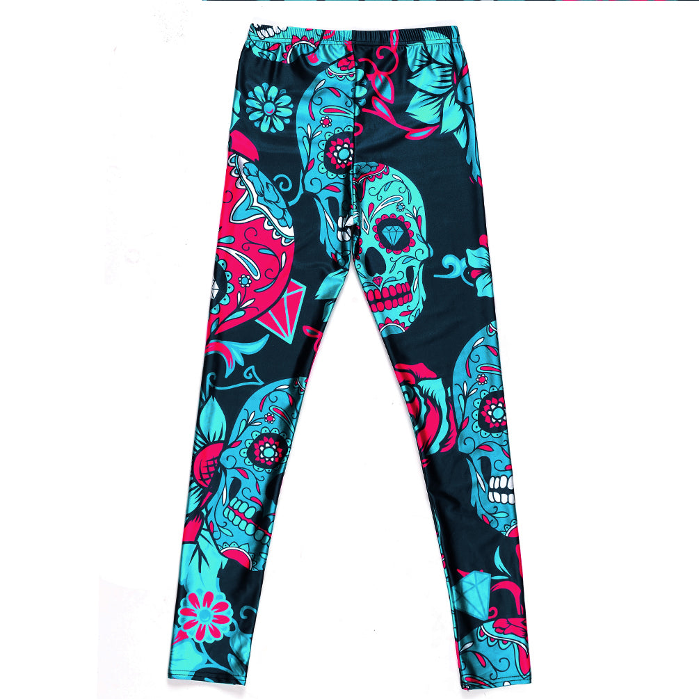Skull Leggings - Leggings.gg