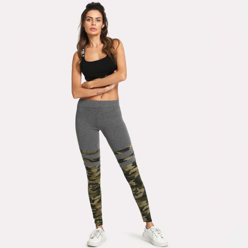 Camo Stripe Leggings - Leggings.gg