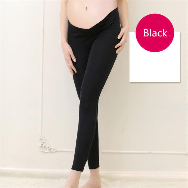 Maternity V Waist Leggings - Leggings.gg