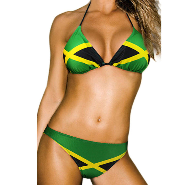 Caribbean Flag  Bikini Swimsuit - Leggings.gg