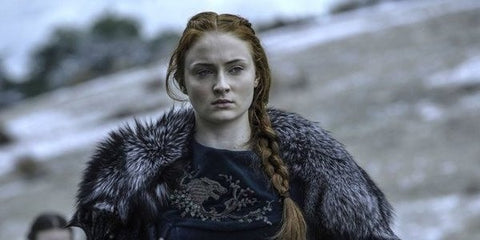 Sansa with braided hair