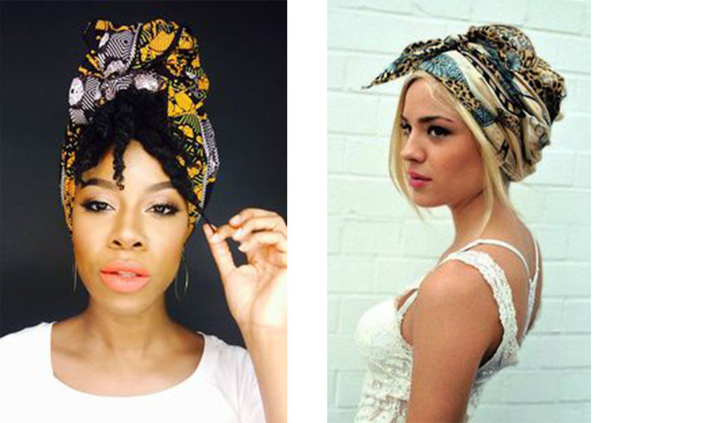 Colorful head wrap + head scarf