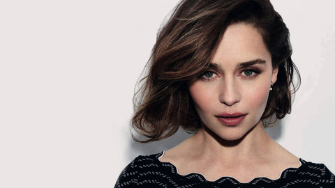 Emilia Clarke with dark short hair