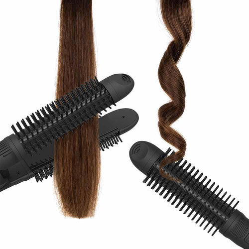 xtava curling iron and straightener 3-in-1 with curls