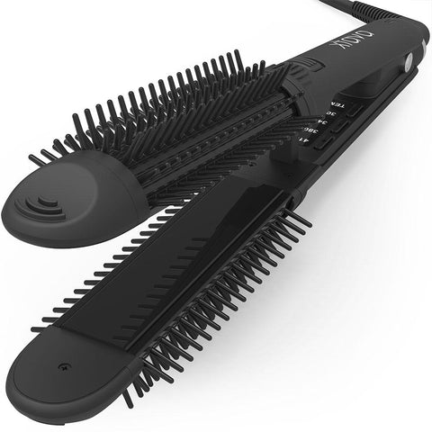xtava 3 in 1 flat iron hair curler and brush