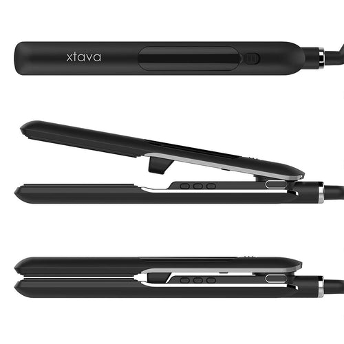xtava time to shine steam hair straightener with conditioning steam and travel friendly