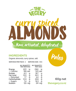 Activated Almonds - Curry Spice