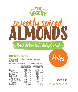 Activated Almonds - Sweetly spiced
