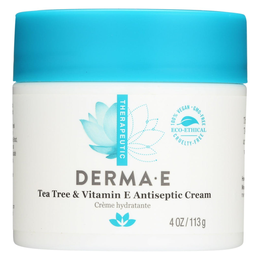 Derma E Tea Tree And E Antiseptic Creme - 4 Oz - Organicotc.com