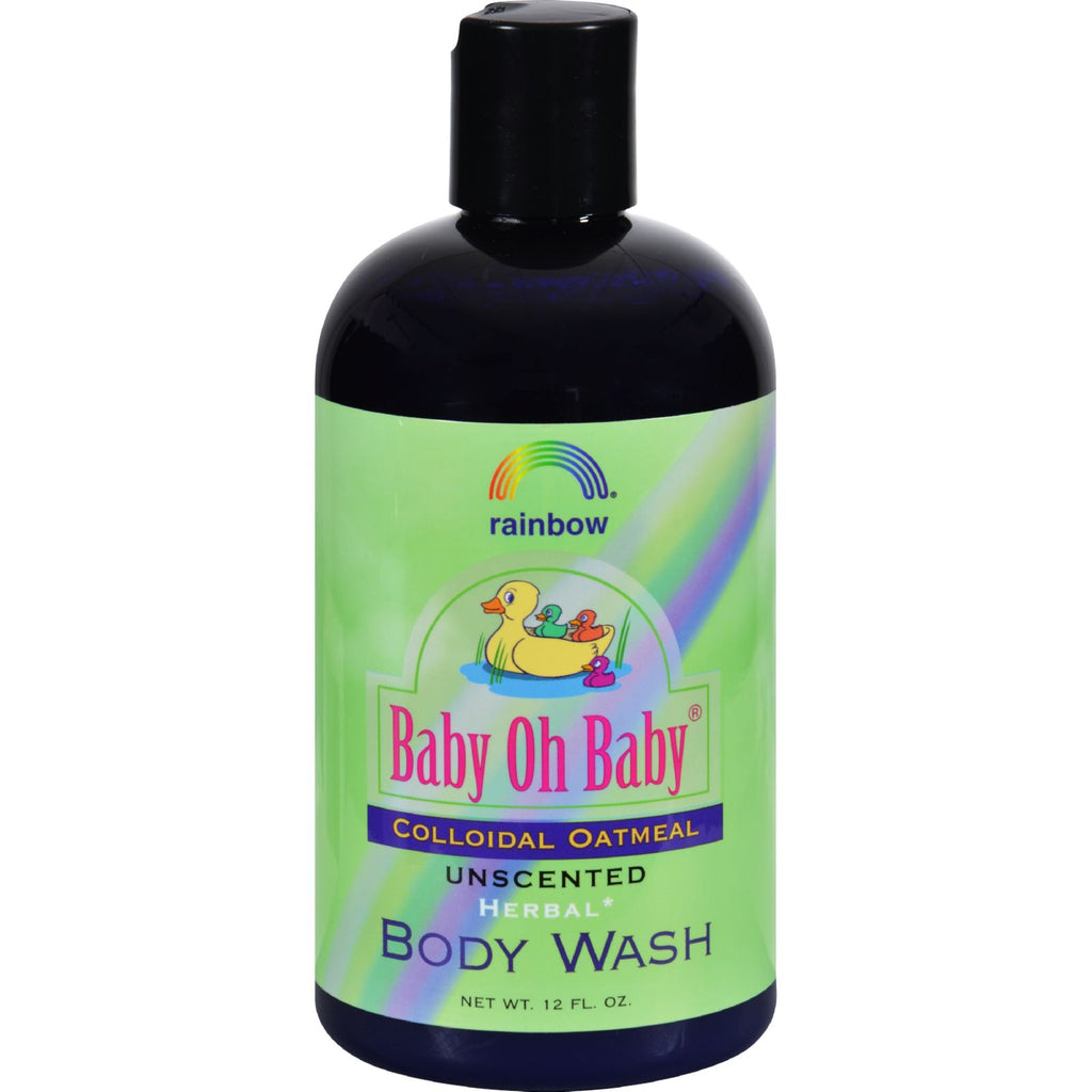Rainbow Research Baby Oh Baby Organic Herbal Wash Colloidal Oatmeal Unscented - 12 Fl Oz