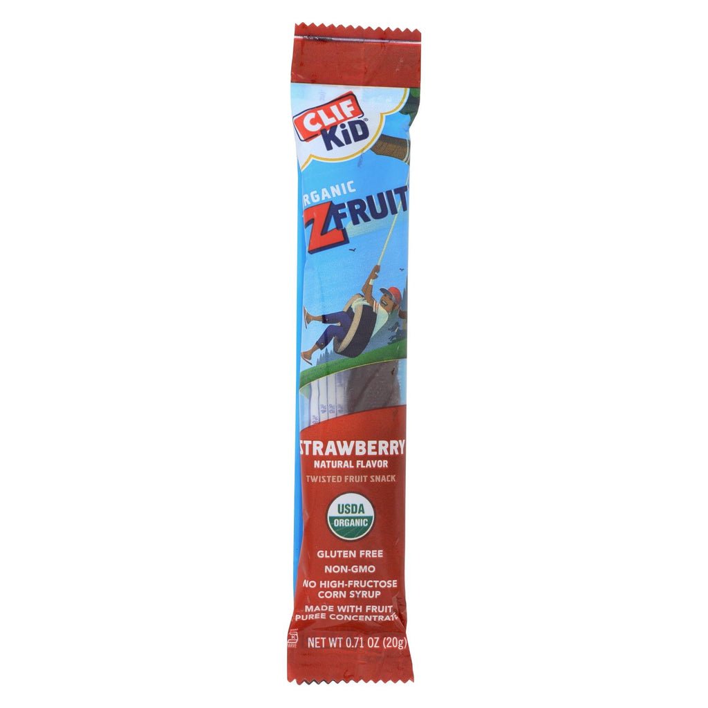 Clif Bar Kid Zfruit - Organic Strawberry - Case Of 18 - .7 Oz - Organicotc.com