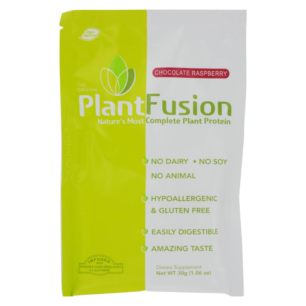 Plantfusion Chocolate Raspberry Packets - Case Of 12 - 30 Grams