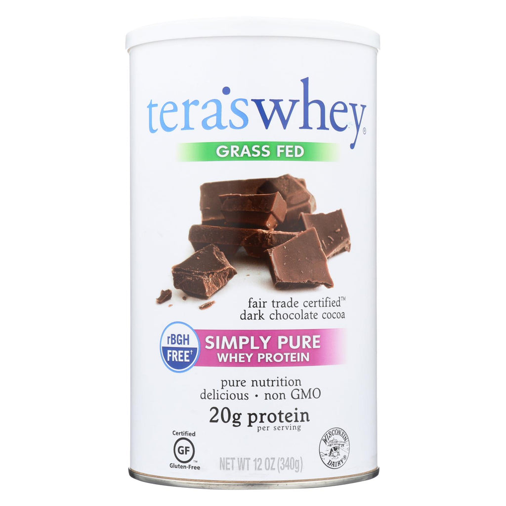 Tera's Whey Protein - Rbgh Free - Fair Trade Dark Chocolate - 12 Oz
