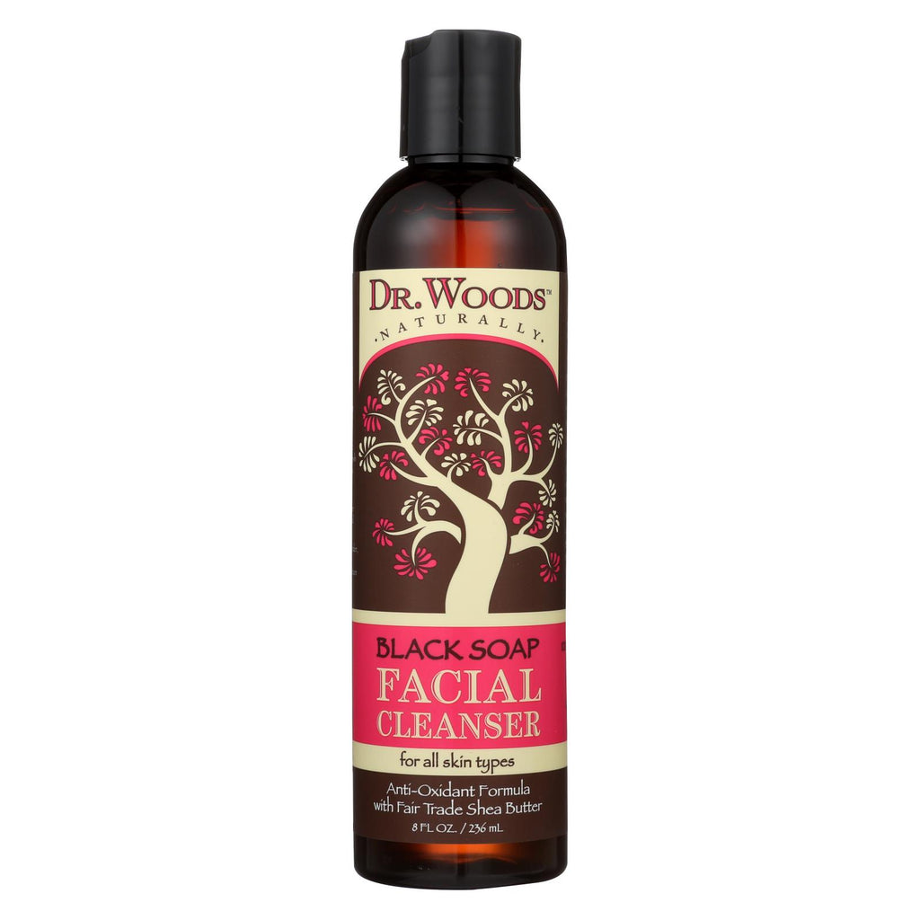 Dr. Woods Facial Cleanser Black Soap And Shea Butter - 8 Fl Oz - Organicotc.com