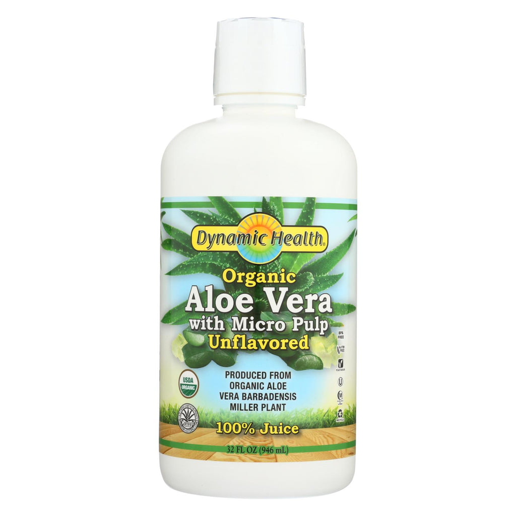 Dynamic Health Organic Aloe Vera Juice With Micro Pulp - 32 Fl Oz - Organicotc.com