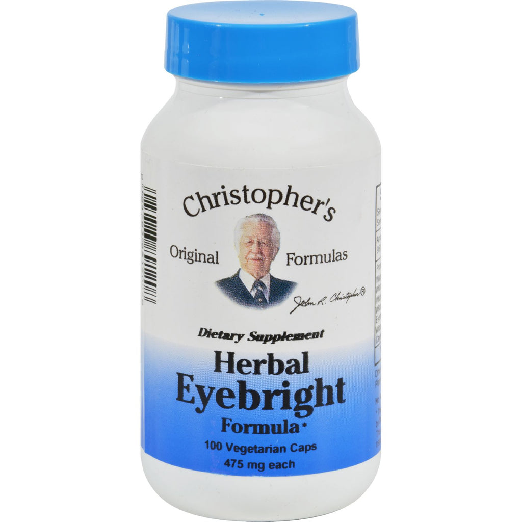 Dr. Christopher's Herbal Eyebright - 450 Mg - 100 Vegetarian Capsules - Organicotc.com