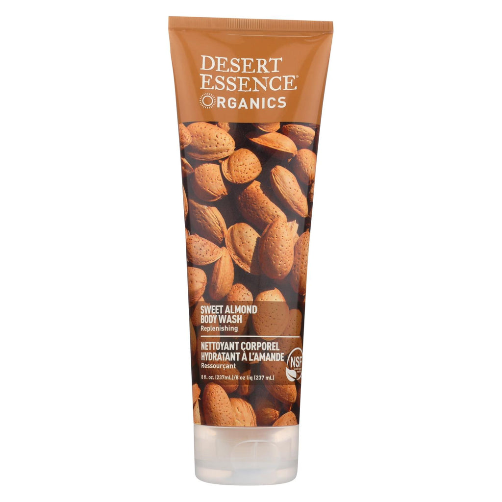 Desert Essence Body Wash Almond - 8 Fl Oz - Organicotc.com