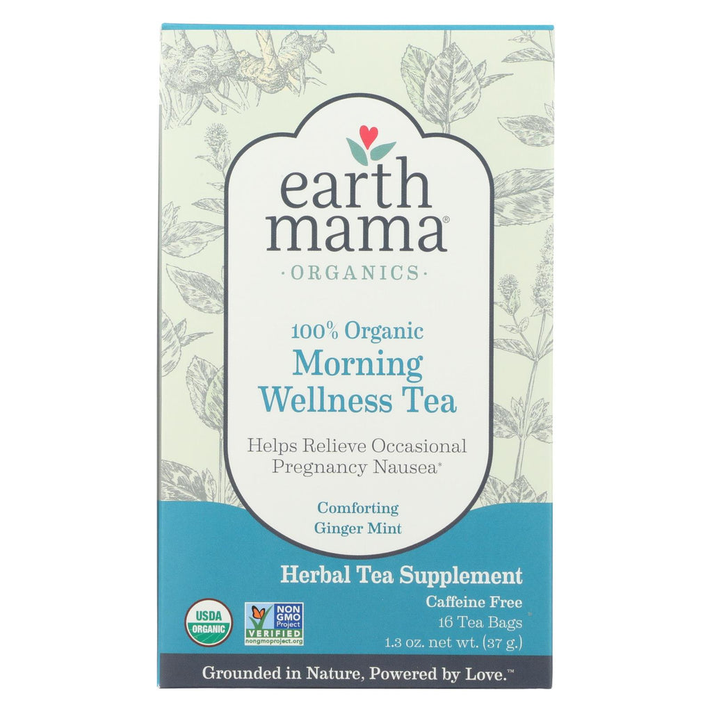Earth Mama Angel Baby Morning Wellness Tea - 16 Tea Bags - Organicotc.com