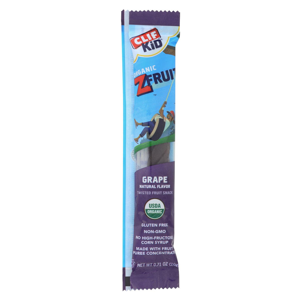 Clif Bar Kid Zfruit - Organic Grape - Case Of 18 - .7 Oz - Organicotc.com