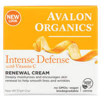 Avalon Organics Renewal Facial Cream Vitamin C - 2 Oz - Organicotc.com