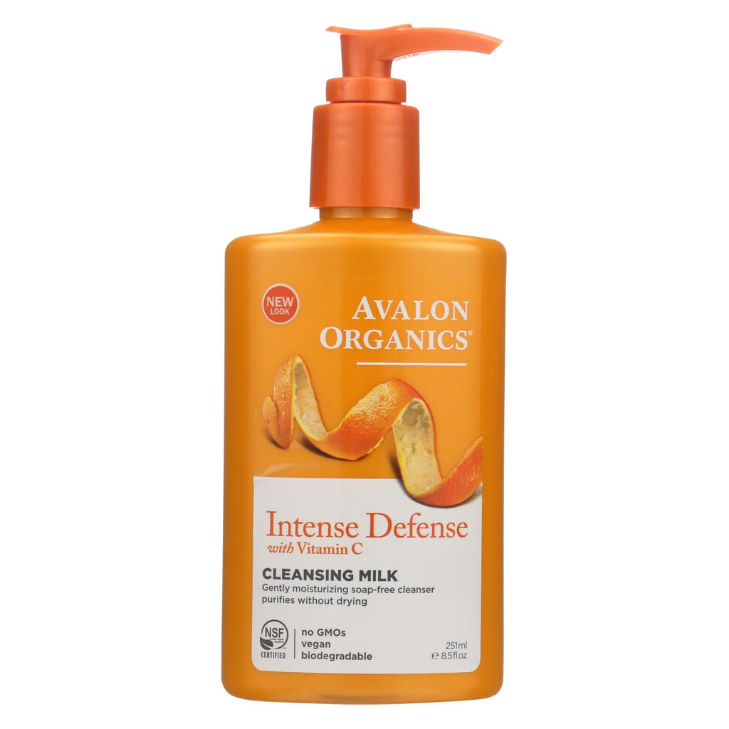 Avalon Organics Hydrating Cleansing Milk Vitamin C - 8.5 Fl Oz - Organicotc.com